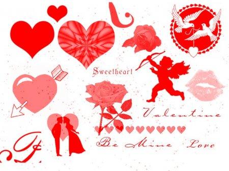 Макет для открытки на день святого валентина
